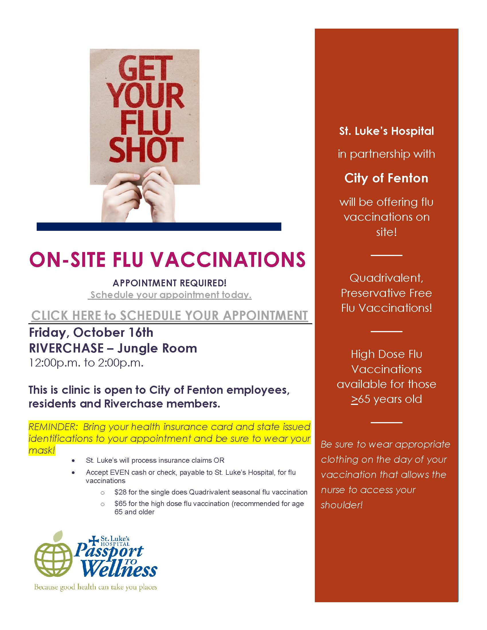 2020 FLU SHOT FLYER City of Fenton