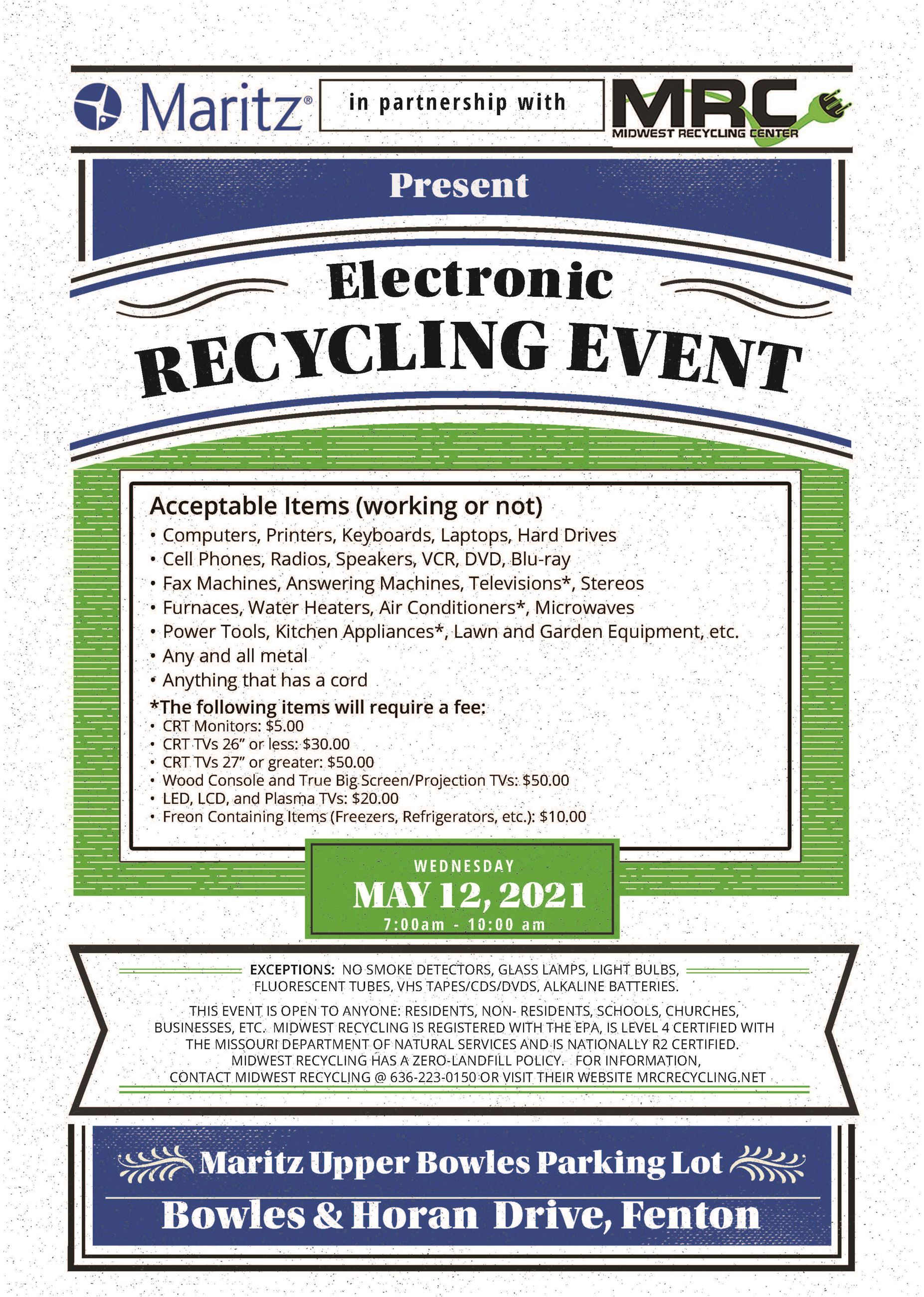 Electronic Recyle 5-12-21